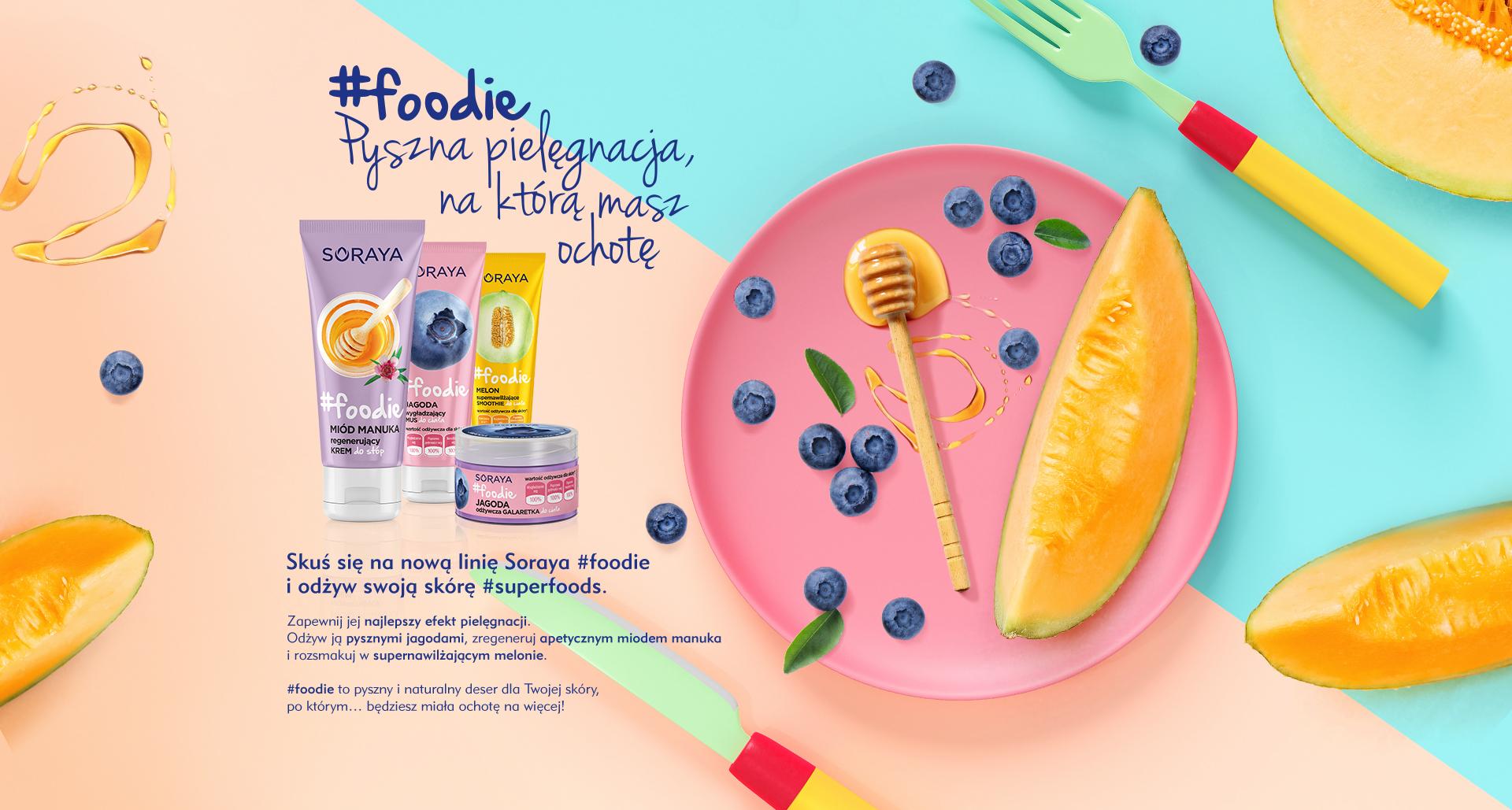 Soraya foodie kosmetyki nawilżające