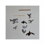 Karuzela Mobil Montessori wieloryby