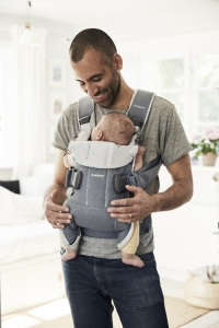 Baby Carrier One (2018) - Light denim blueBlue sprinkles, Cotton (1)
